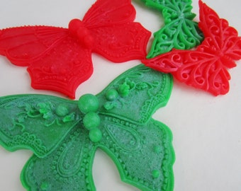 Butterfly Soap - Christmas gift set , gifts for teen, gift for her, Christmas stocking stuffer