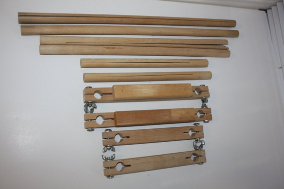 f a edmunds split rail scroll frame set hardwood 6 9 spreader rails plus