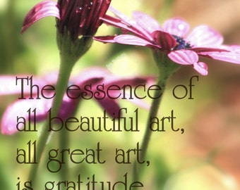 Art Gratitude Quote Photographic Print - 5x7 Photo