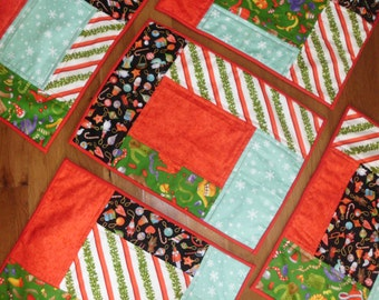 Winter fun set of five placemats