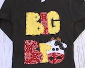 Big Bro barnyard birthday shirt/ lil bro/  two, cow, 2nd,  t shirt, barn yard, farm theme, boy