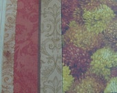 Clearance - 2 Sided Assorted Autumn Fall Papers 4X6