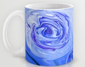 Blue Abstract Art Mug Abstract by the Artist Karen J. Kolnes