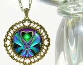 "Twin Flames, Reiki Energy Pendant Necklace ""Unconditional Love"""