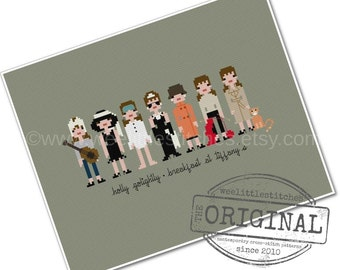 Holly Golightly - Breakfast at Tiffany's - The *Original* Pixel People - PDF Cross-stitch Pattern - Instant Download