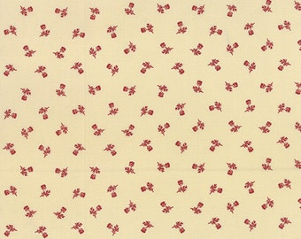 Atelier - Floral Shirting in Linen Scarlet by 3 Sisters for Moda Fabrics