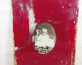 Vintage Baby Photo on Painted Glass