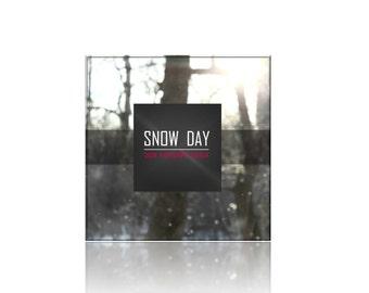 Snow Day Photography Overlay -1 Photography Overlay - png File Digital Download