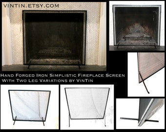 Fireplace screen Etsy