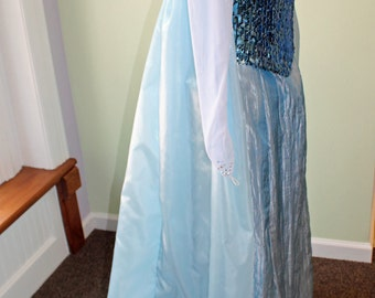 Snow Queen Costume Cape, Elsa Cape, Princess Cape, Frozen Embroidered Cape, Snowflake Cape