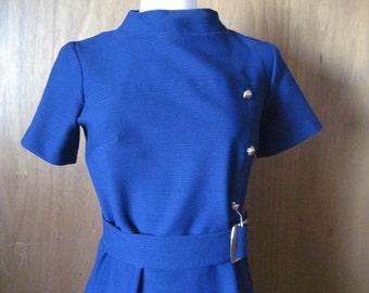 Blue Burt Stanley Belted Dress