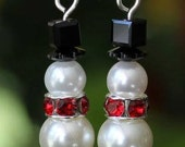 Frosty the Snowman Holiday Earrings
