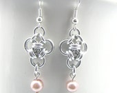Tasteful Triad Chainmaille Earrings - Choose Your Color