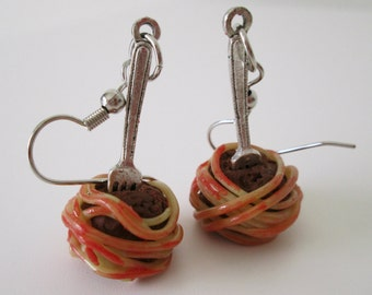 Spaghetti and Meatball Earrings