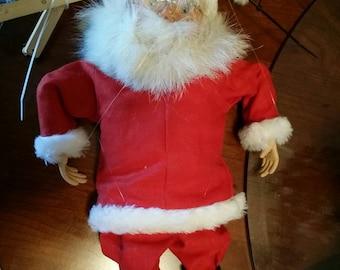Vintage Czech Santa Claus Marrionette Puppet