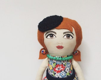 Miss Mia handpainted doll