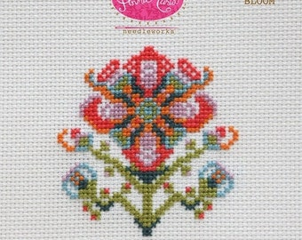 Complete Kit - Anna Maria Horner Needleworks Cross Stitch - Showy Bloom