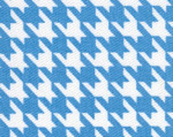 Fabric Finders Turquoise Houndstooth Cotton Twill Fabric