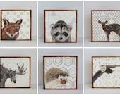 art for kids room l Choose (6) SIX of our Custom Designs 5x5 mint nursery decor- redtilestudio