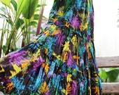 Printed Cotton Long Tiered Skirt - SSY1114-01