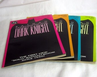 Vintage BATMAN Legends of The Dark Knight 1 Nov. 1989 DC 4 Comic Book Lot all 4 Color Cover Variants Instant Set or paper supplies