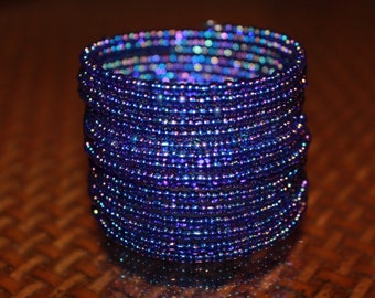 New African blue and purple bracelet