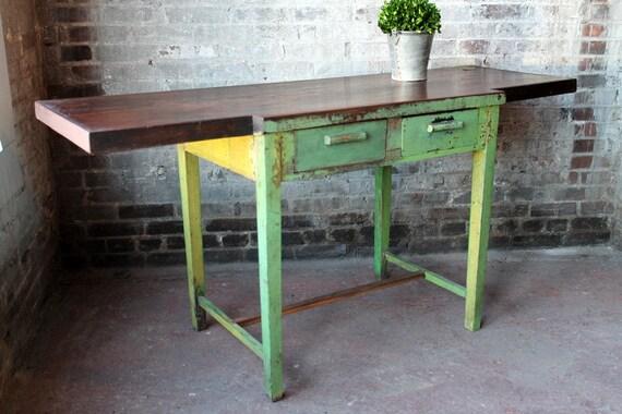 50 OFF SALE Vintage Silversmith Desk by hammerandhandimports