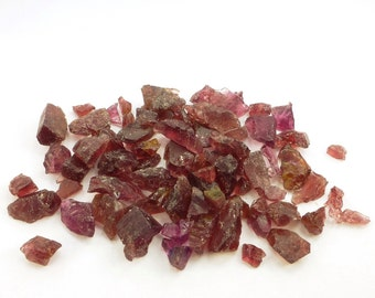 Rhodolite Garnet.  Limited Supply.  Rough Cabochon Grade Great for cutting or AS Is. 45 pc. 32 grams. 5-16 mm (GA783)