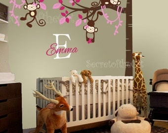Nursery Wall Decal - Tree Wall Decals nursery - corner tree - Tree - Girl tree decal - wall decals - Tree