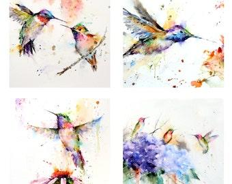HUMMINGBIRD Refrigerator Magnet Set by Dean Crouser