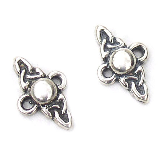 Celtic Symbols Connector Findings Sterling Silver 10mm, set of 2