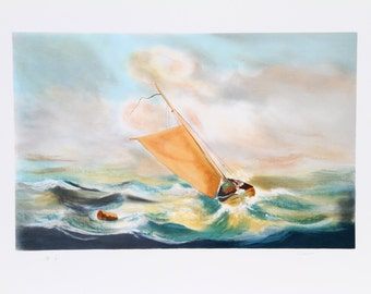 Sail in the Storm by Fioravanti, Lithograph