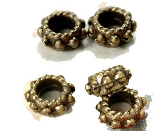 8 Bronze dread beads