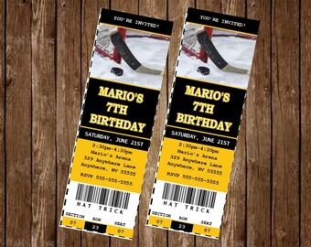 HOCKEY Invitation Card, free customization, printable Hi-Res Design