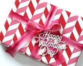 Happy Valentines Day - Laser Cut Acrylic Wine or Gift Tag