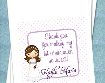 Personalized First Holy Communion Favor Bags - Confirmation, Primera Comunión, Candy Buffet, Candy Bags - MANY OPTIONS! - Set of 25