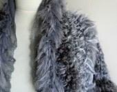 Fifty Shades of Grey  Shrug, Free Form Knitting, New Season, Winter Fashion,  Ready To Ship