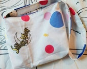 Sailor Moon pretty soldier cute upcycled tote bag purse