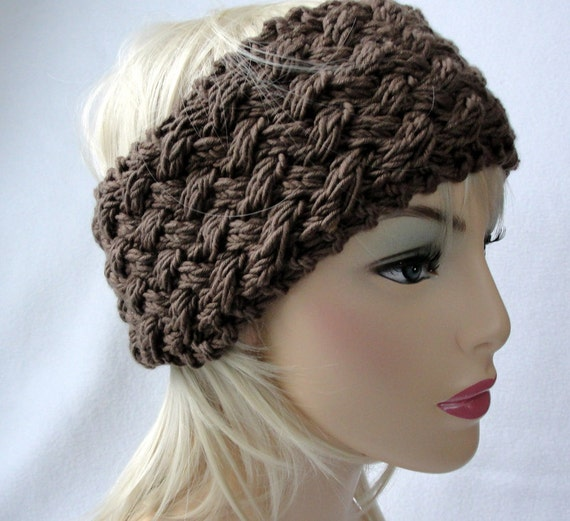 Knit Ear Warmer Pattern Knit Headband pattern by longbeachdesigns