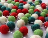10ft Felt Ball Garland, Christmas Garland, Pom Pom Garland, Holiday Decor, Nursery Decor, Kids Room Decor, Felt Balls, Felt Balls