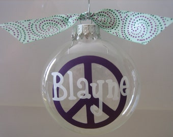Peace Sign Holiday Ornament