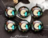 NEW 12mm 20mm 25mm 30mm( 25mm Flat )Handmade Photo Glass Cabochon -Image Glass Cabochon-Butterfly-(HPGC-184-22)
