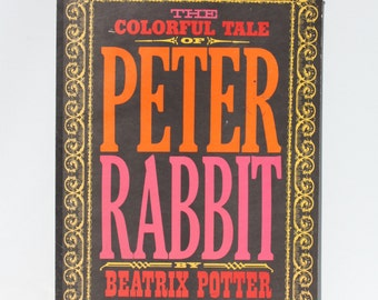 Vintage The Colorful Tale Of Peter Rabbit By Beatrix Potter Large Coloring Book, Nursery Decor 1963 Edition