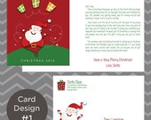 Personalized Letter From Santa Greeting Card with Matching Envelope - FREE SHIPPING