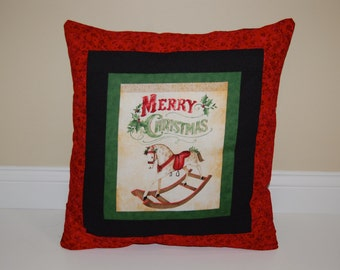 Pillow, Toy Shop, Christmas Red, Holiday Decor