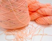 Apricot Acrylic Yarn, 3 Skeins Knitting Yarn, Made in Mexico for Tamm SA, Knitting Notions, New 3 ply Yarn, Y107