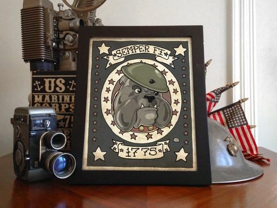 USMC Devil Dog Limited Edition 8x10 Print