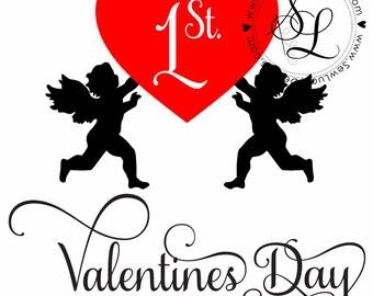 1 st Valentines Day SVG file
