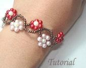 Beading Tutorial - Beaded Meandering Ipomoeas Bracelet Pattern