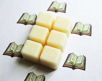 Library Scented Melts - Natural Vegan Soy Wax - Soy Candles - Soy Wax Melts - Soy Tarts